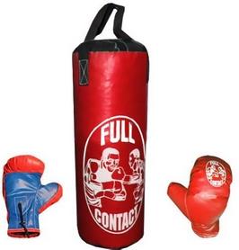 Набор боксерский детский Full Contact (52х20 cм) красный