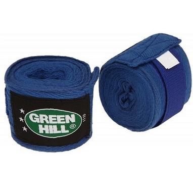 Бинт боксерский Green Hill Cotton (2,5 м) синий (2 шт)