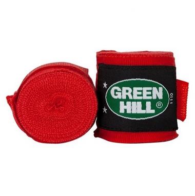 Бинт боксерский Green Hill Cotton (4,5 м) красный (2 шт)