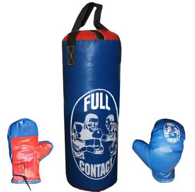 Набор боксерский детский Full Contact (60х23 см) синий