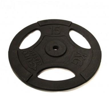 Диск чугунный USA Style 15 кг с хватами - 26 мм