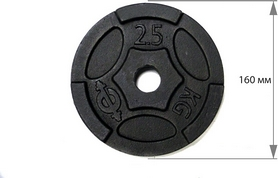 Фото 2 к товару Диск чугунный USA Style 2,5 кг - 26 мм