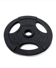 Фото 1 к товару Диск чугунный олимпийский USA Style 10 кг с хватами - 51 мм
