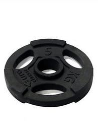 Фото 1 к товару Диск чугунный олимпийский USA Style 5 кг с хватами - 51 мм