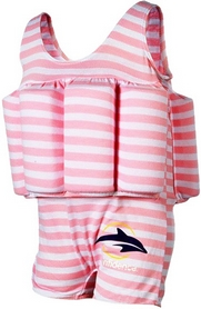 Купальник-поплавок Konfidence Floatsuits pink berton stripe