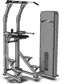 Тренажер грузоблочный для подтягиваний с разгружением Fit Way Factory Bridge Style A 210.1