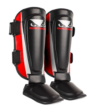 Защита для ног (голень+стопа) Bad Boy Training Series 2.0 red