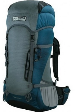 Рюкзак туристический Terra Incognita Impuls 40 л бирюзовый/серый