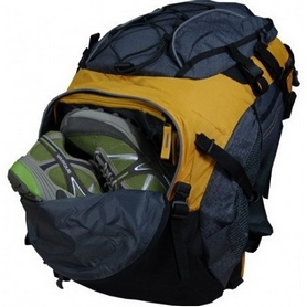 Фото 4 к товару Рюкзак спортивный Terra Incognita FreeRide 35 л желтый/серый