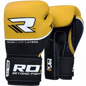 Перчатки боксерские RDX Quad Kore Yellow