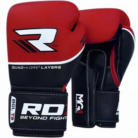 Перчатки боксерские RDX Quad Kore Red (10123)