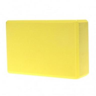 Йога-блок Pro Supra 15,5x7,5 см желтый