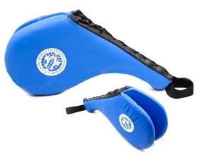 Ракетка (хлопушка) для тхэквондо двойная Combat Budo BO-4746 синяя (1 шт)