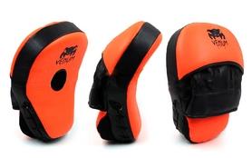 Лапы изогнутые Venum MA-025 (25x19x7 см) оранжевый/черный (2 шт)