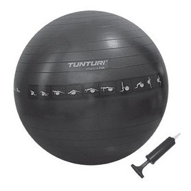Мяч для фитнеса (фитбол) Tunturi Gymball 90 см черный