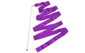 Лента гимнастическая ZLT C-1762 6,8 м фиолетовая
