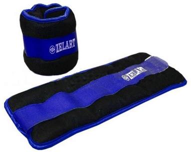 Утяжелители-манжеты ZLT FI-2502-3 2 шт по 1,5 кг blue