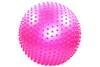 Мяч для фитнеса (фитбол) массажный HMS 65 см с системой антиразрыва розовый - фото 1