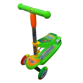 Фото 1 к товару Самокат трехколесный с наклоном руля 21st Scooter M-78 зеленый