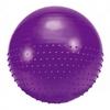 Мяч для фитнеса (фитбол) полумассажный HMS 75 см фиолетовый - фото 1