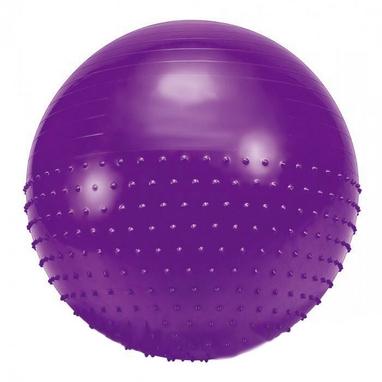 Мяч для фитнеса (фитбол) полумассажный HMS 75 см фиолетовый