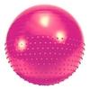 Мяч для фитнеса (фитбол) полумассажный HMS 65 см розовый - фото 1