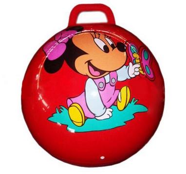 Мяч попрыгун с ручкой Disney 45 см красный