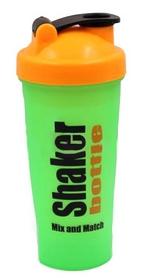 Шейкер Smart Shake 600 мл зелено-оранжевый