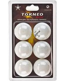 Набор мячей для настольного тенниса Torneo Invite 40 мм белые (6 шт)