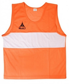 Накидка (манишка) тренировочная детская Select Bibs Standard junior оранжевая