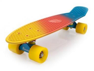 Пенни борд Penny Fish Color SK-402-9 желтый/оранжевый/голубой