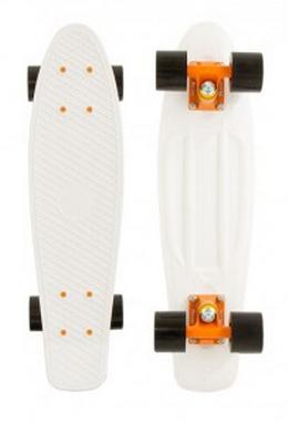 Пенни борд Penny Color Point Fish SK-403-14 белый/оранжевый/черный