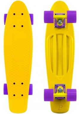 Пенни борд Penny Color Point Fish SK-403-4 желтый/фиолетовый