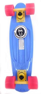 Пенни борд Penny Color Point Fish SK-403-7 синий/желтый/розовый