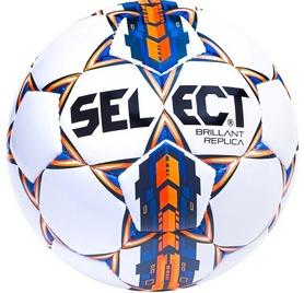 Мяч футбольный Select Brillant Replica 3 белый/синий/оранжевый