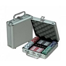 Фото 2 к товару Набор для игры в покер 100 фишек по 11,5 г (алюминиевый кейс)