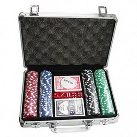 Распродажа*! Набор для игры в покер 200 фишек по 11,5 г (алюминиевый кейс)