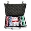 Набор для игры в покер 200 фишек по 11,5 г (алюминиевый кейс) - фото 1