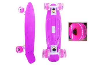 Пенни борд Penny Wheels Point Fish SK-406-1 фиолетовый