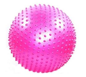 Мяч для фитнеса (фитбол) массажный 75 см Pro Supra розовый