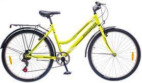 """Велосипед городской женский Discovery Prestige Woman 14G Vbr St 26"""" 2016 с багажником зелено-серый, рама 17"""""""