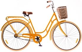 """Велосипед городской женский Dorozhnik Retro 14G Velosteel St с багажником 28"""" 2016 оранжевый, рама 19"""""""