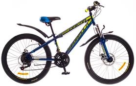 """Велосипед подростковый горный Formula Dakar AM 14G DD St 24"""" 2016 сине-зеленый, рама 13"""""""