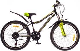 """Велосипед горный подростковый Formula Forest AM 14G Vbr St 24"""" 2016 черно-зеленый, рама 12,5"""""""