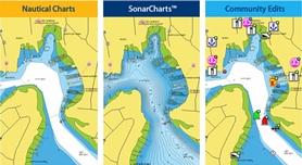 Морские и речные навигационные карты, SonarCharts™ и Community Edits
