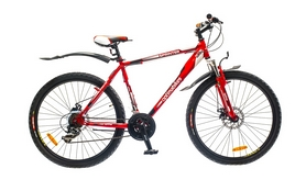 "Велосипед горный Optimabikes Sprinter AM 14G DD 2015 - 26"", рама - 17"", красно-белый (PCT*-OP-26-012-1)"