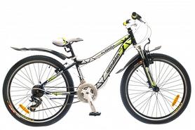 """Велосипед подростковый горный Optimabikes Florida AM 14G St 2015 - 24"""", рама - 12"""", черно-зеленый (PCT*-OP-24-001-1)"""