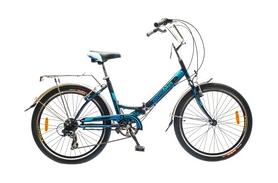 "Велосипед складной Optimabikes Veсtor 2015 - 24"", рама - 16"", чёрно-синий (PCT*-OP-24-005-1)"