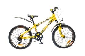 """Велосипед подростковый горный Optimabikes Shinobi AM 14G St 2015 - 20"""", рама - 12"""", жёлто-чёрный (PCT*-OP-20-015-1)"""
