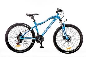 """Велосипед горный Optimabikes Alpina AM 14G DD Al 2016 - 26"""", рама - 16"""", голубо-белый (OPS-OP-26-059-1)"""